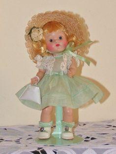 STRUNG VOGUE GINNY DOLL 1950-51 'PENNY' #8-6K  Afternoon Dresses - Darling Doll #hardplasticstrungVogueGinnydollSLEEPEYE