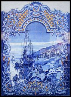azulejos portugueses  mercado de Santarém.