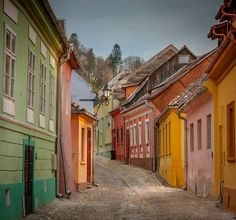 Carpenters' Street, Sighișoara, Romania
