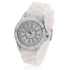 Relógio de pulso feminino branco modelo A304 | Relógios | | TriClick por R$39,50