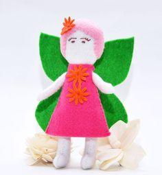 Sew a Softie 2017 - Fairy Doll Pattern - Miss Daisy Patterns Felt Crafts Diy, Fairy Crafts, Sewing Crafts, Sewing Projects, Sewing Tools, Sewing Patterns For Kids, Sewing For Kids, Doll Patterns, Diy Fairy Door