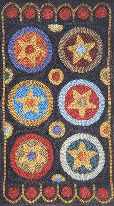 FOLK STAR by Fredericksburg Rugs - Pattern Only or Complete Rug Hooking Kit