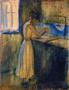 Young Woman Washing Herself - Edvard Munch - 1896 The Athenaeum