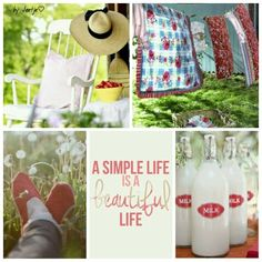 A simple life is a beautiful life. #moodboard #mosaic #collage #inspirationboard #byJeetje♡