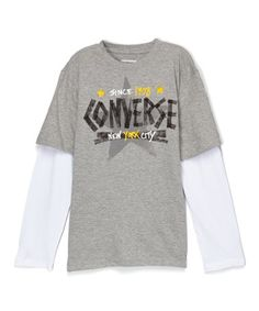 Look what I found on #zulily! Gray Heather All Star Layered Tee #zulilyfinds