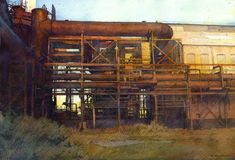 """Dick Sneary, Carrie Furnace #6"""" Cross My Fingers, Submissive, Carrie, Carry On, Industrial, Watercolor, American, House Styles, Instagram"""