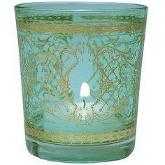 Turquoise Blue Gilded Glass Candle Holder (scrolling accents) by Luna Bazaar, http://www.amazon.com/dp/B004QD165U/ref=cm_sw_r_pi_dp_Cjowqb0MBPCY8