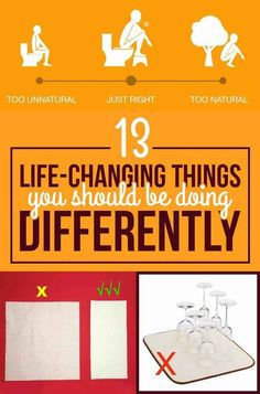 13 Things You're Probably Doing Wrong