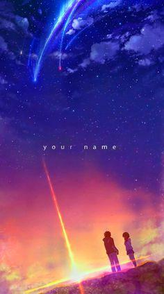 Your Name Wallpaper, Anime Wallpaper Live, Wallpaper Animes, Anime Backgrounds Wallpapers, Anime Scenery Wallpaper, Animes Wallpapers, Live Wallpapers, Sky Anime, Anime Guys