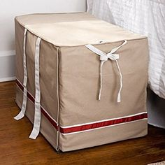 Medium DogHouse Signature Canvas Dog Crate Cover - http://www.thepuppy.org/medium-doghouse-signature-canvas-dog-crate-cover/