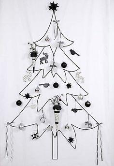 BW Christmas tree