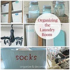Laundry Room Organizing