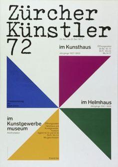 Zürcher Künstler 72 - im Kunsthaus - im Helmhaus, Hans Neuburg, 1972Kunstgewerbemuseum-Plakat