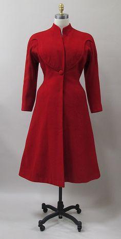 Coat, Charles James, 1947, wool. -The Metropolitan Museum of Art. 2013.374
