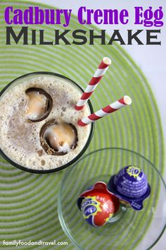 Cadbury Creme Egg Milkshake - a delicious Easter treat sure to satisfy your sweet tooth