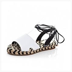 a809df42fb70db AmoonyFashion Women s Low-heels Assorted Color Lace-up Soft Material  Open-Toe Sandals