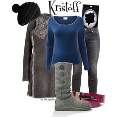 Disney Outfit inspired by Kristoff from Frozen. You can find the Kristoff silhouette pendant here: www.inknpaint.etsy.com