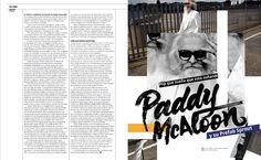 De Culto Música: Paddy McAloon #MinimalDesign #Minimal #RevistaMarvin #Marvin #ArtDirection #Magazine #EditorialDesign #Editorial #GraphicDesign #collage #paddymcaloon #editorialcollage #calligraphy #handmade #brushcalligraphy