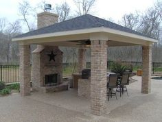 Detached Patios | Detached Covered Patio With Custom Outdoor Fireplace    Outdoor .
