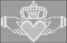 Medium claddaugh chart  filet crochet  crochet042004 by nezumiworld, via Flickr