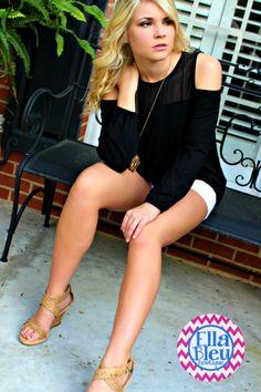 Cute top from Ella Bleu Boutique on FB. www.Facebook.com/EllaBleuBoutique
