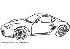 Ausmalbilder Autos Porsche Cayman