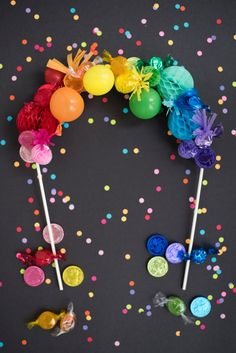 Rainbow Cake Topper DIY | Oh Happy Day!