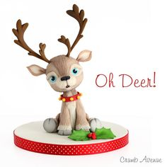 Reindeer Topper - Cake by Crumb Avenue