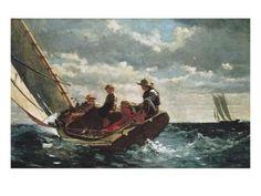 Breezing Up (A Fair Wind) Art Print by Winslow Homer at Art.com