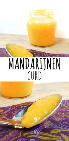Curd gemaakt van mandarijnen