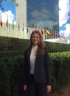 Princess Madeleine attended a meeting at the United Nations  16 SEP