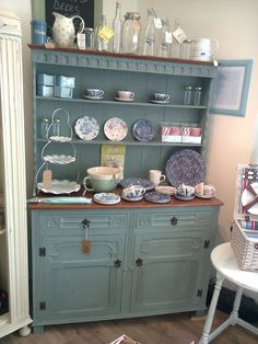 #ShabbyChic Dresser painted in #AnnieSloan #DuckEggBlue available at Quayside Buttery