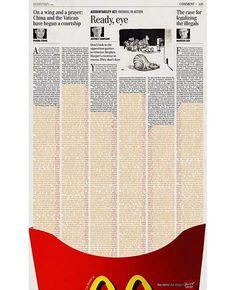 Mcdonald Ads news paper