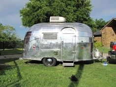 Whoa! I've never seen one of these before!! 1955 Airstream Bubble www.rollinvintage.com