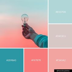 Pastel Skies | Pink and Blue | Ideas |Color Palette Inspiration. | Digital Art Palette And Brand Color Palette.