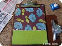 The Nest Effect: DIY Decorated Clipboard