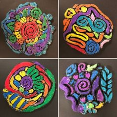 30 Unique Fifth Grade Art Projects To Tap Into Kids' Creativity Clay Projects For Kids, Kids Clay, School Art Projects, Pintura Glitter, Art Tumblr, 6th Grade Art, Design Tattoo, Art Watercolor, Art Curriculum