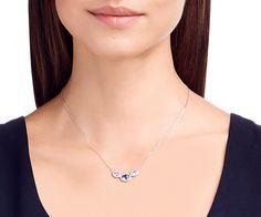 LOVE. Christie Frontal Oval Necklace from #Swarovski