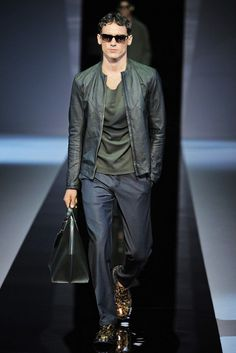 Emporio Armani Men's RTW Spring 2013 | You know, everything here just works!