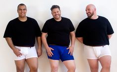 We& celebrating National Underwear Day with a cavalcade of big men in their boxer shorts. See the photos and find out where you can buy those boxers. Big And Tall Style, Big And Tall Outfits, Mens Big And Tall, Big Guys, Tall Guys, Tall Man, Tall Men Fashion, Chubby Men, Outfits