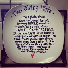 Pass the plate :) share the love around