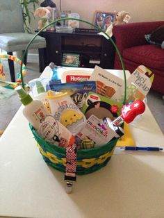 Baby easter basket one day pinterest baby easter basket babys 1st easter basket negle Images