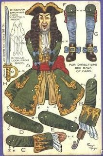 Pirate paper doll, circa 1916