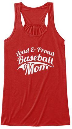 Baseball Mom Shirts 165 Red T-Shirt Front
