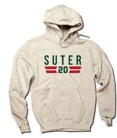 Ryan Suter Font G Officially Licensed NHLPA Minnesota Unisex Champion Hoodie S-3XL Ryan Suter Font G