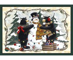 Home Accents Bears and Snowman Area Rug