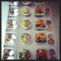 Here is your key to success in weight loss. Meal prep for the week.
