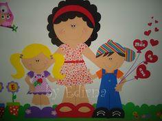 ♥ Ateliê by Edirna ♥: Mural de eva dia das mães