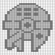 Star Wars Millenium Falcon hama perler beads