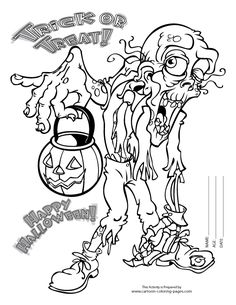 Scary Coloring Pages For Adults Coloring Pages of Halloween
